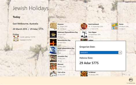 Jewish Holiday Calendar     Windows Apps on Microsoft Store Microsoft Screenshot  Date conversion