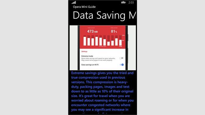 Get Opera Mini 2017 Guide  - Microsoft Store