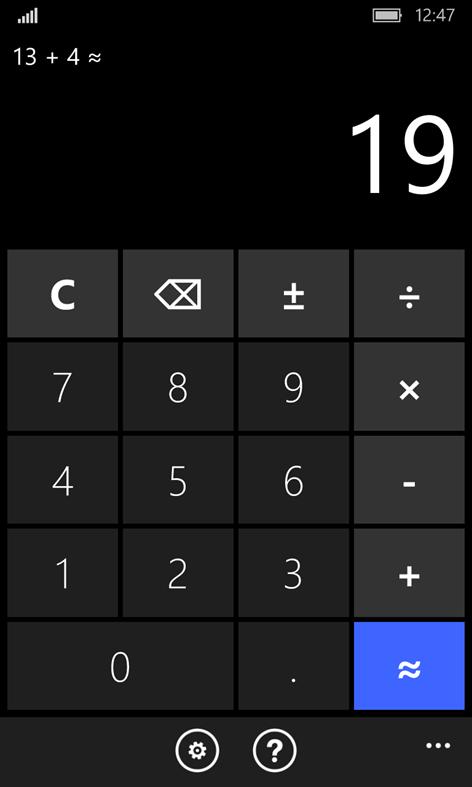 Wrong calculatorScreenshots 1