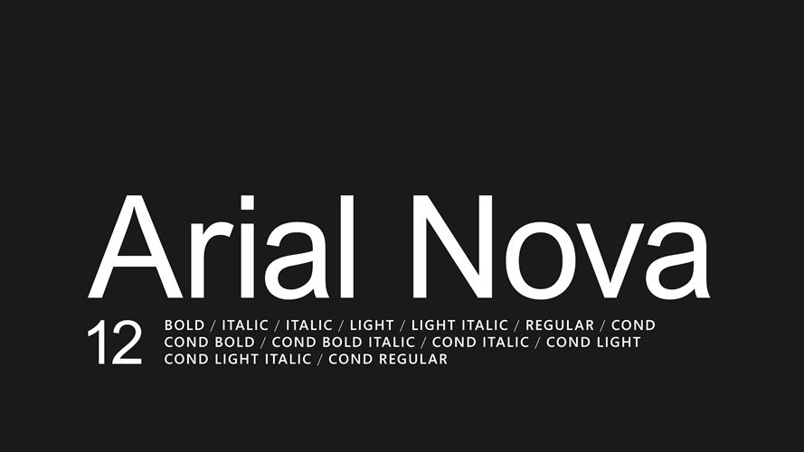 Arial Nova Screenshot