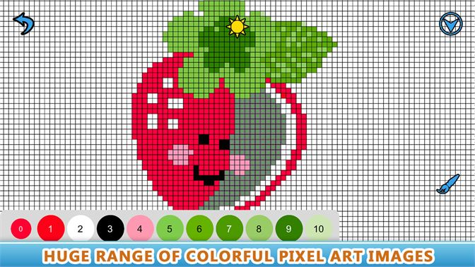 Get Pixel Art Sandbox Number Coloring Book Color By Number