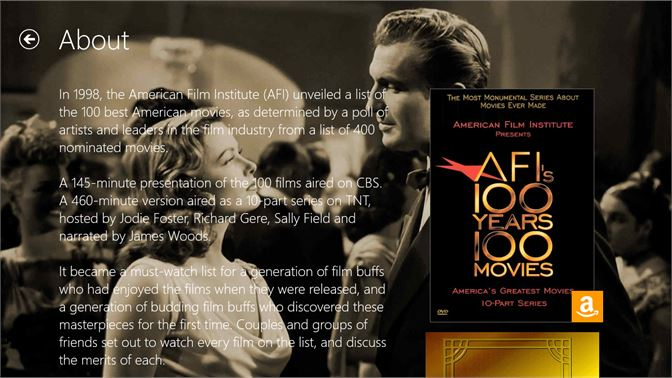 Get AFI's 100 Years   100 Movies - Microsoft Store