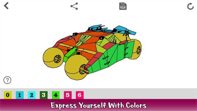 Futuristic Cars Color By Number - Vehicles Coloring Book ...