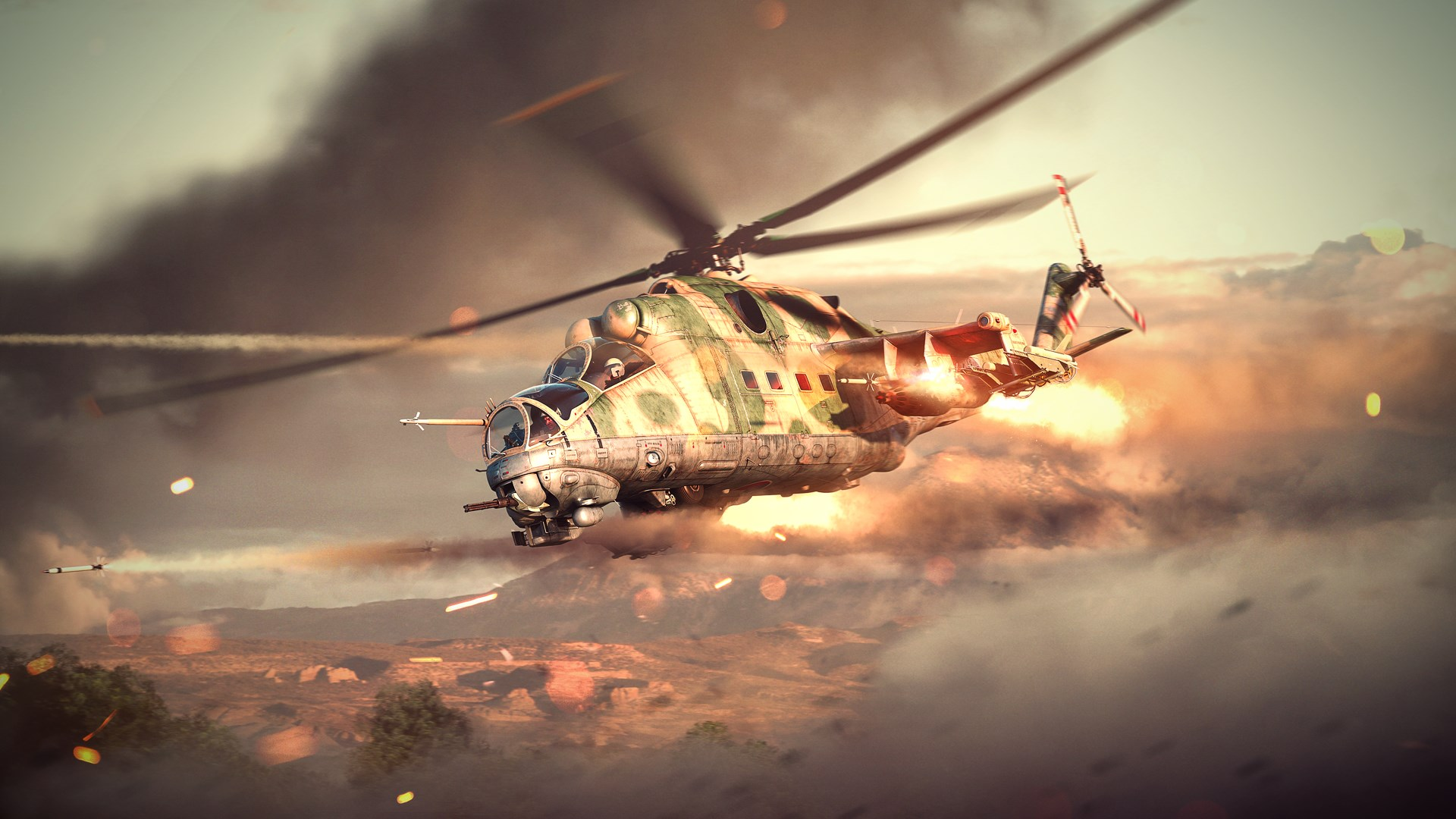 War Thunder - Ми-24Д