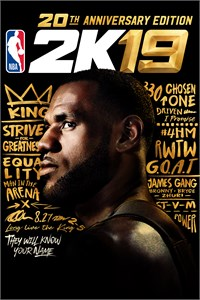 Carátula del juego NBA 2K19 20th Anniversary Edition