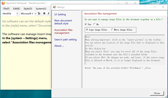 Hypertext Notepad screenshot 3