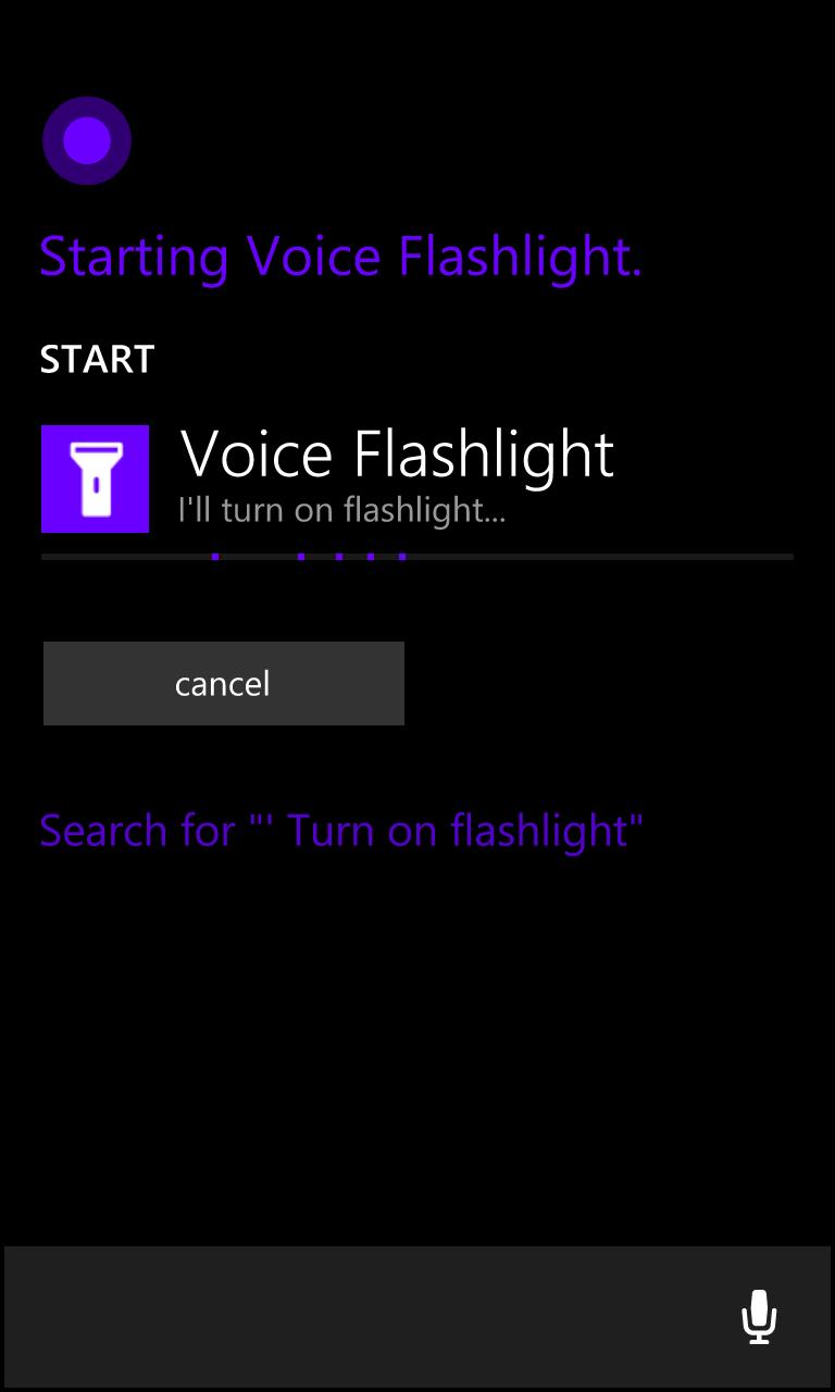 Voice Flashlight