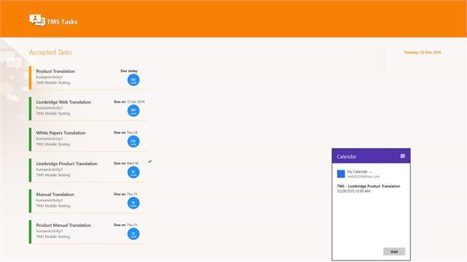 Get TMS Tasks - Microsoft Store