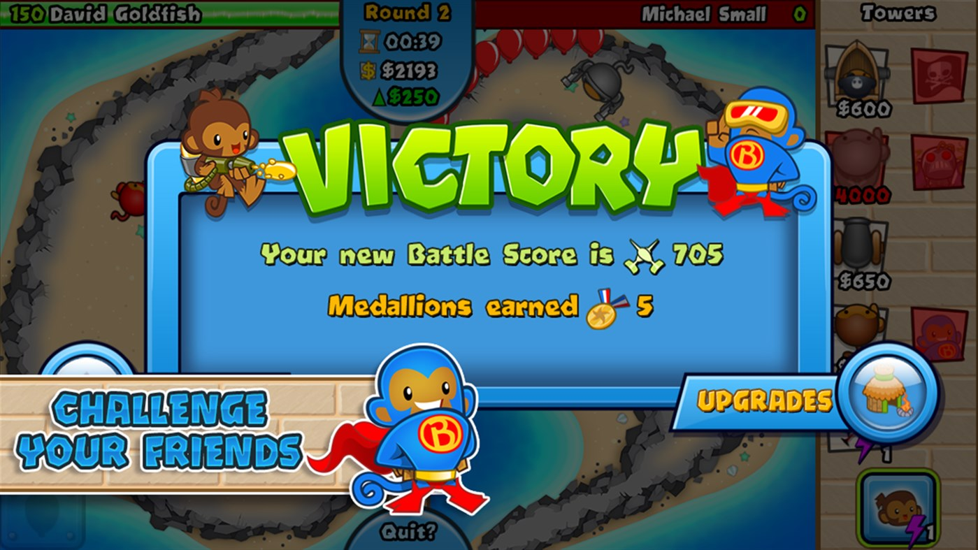 #2. Bloons TD Battles (Windows Phone)