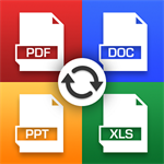 Pdf to Word PDF Converter: Pdf to Ppt , PDF to Jpg , docx , epub ,mobi, txt for free Logo