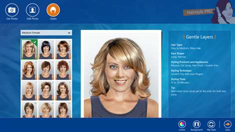 Get Hairstyle PRO Microsoft Store - Hairstyles changer app