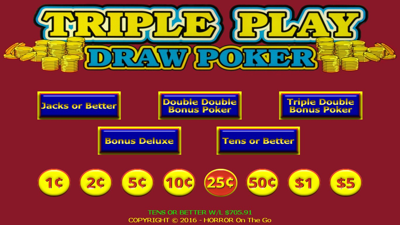 Triple 3 Play Draw Poker for Windows 10 Mobile