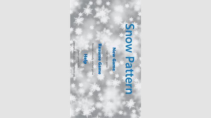 Get Snow Pattern - Microsoft Store