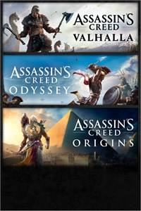 Pacote Assassin's Creed: Assassin's Creed Valhalla, Assassin's Creed Odyssey e Assassin's Creed Origins