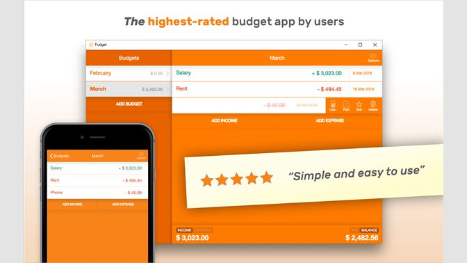 buy fudget budget planner personal finance tracker microsoft store