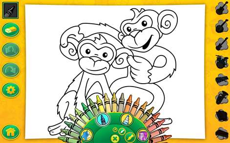 screenshot over 50 official crayola colors as crayons markers and paint - Crayola Coloring Book