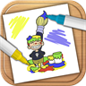 Draw and paint. Drawing board for children