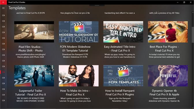 Final Cut Pro Intro Templates