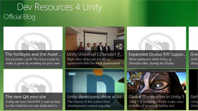 Get Developer Resources for Unity - Microsoft Store en-MN
