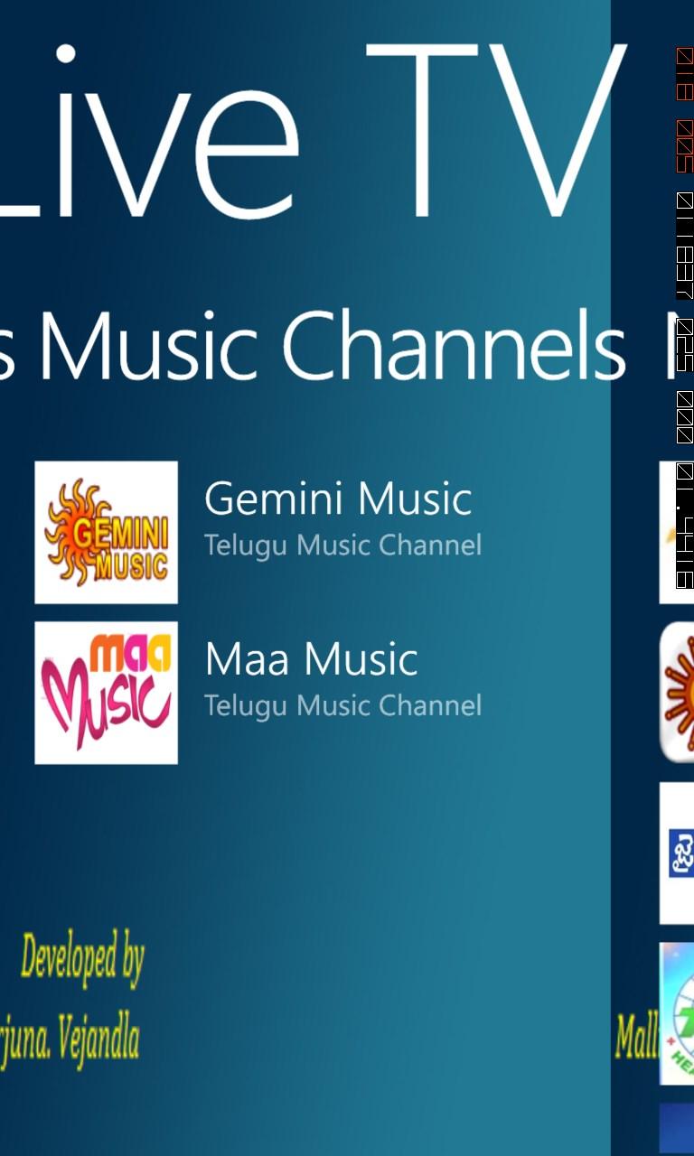 Telugu_Live_TV for Windows 10 Mobile