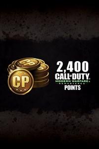 2400 puntos Call of Duty® para Modern Warfare® Remastered