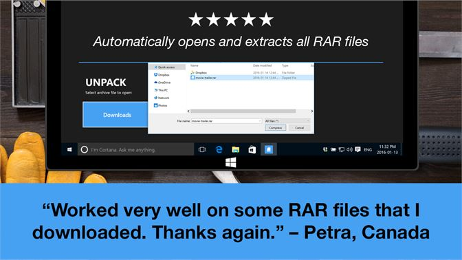 how to unpack rar files windows 8
