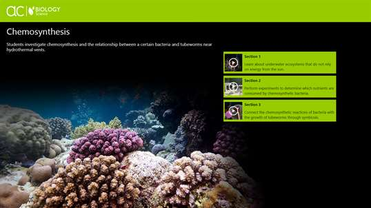 steps to chemosynthesis Explore the science behind chemosynthesis: learn how organisms live in total darkness, thousands of meters below sea level.