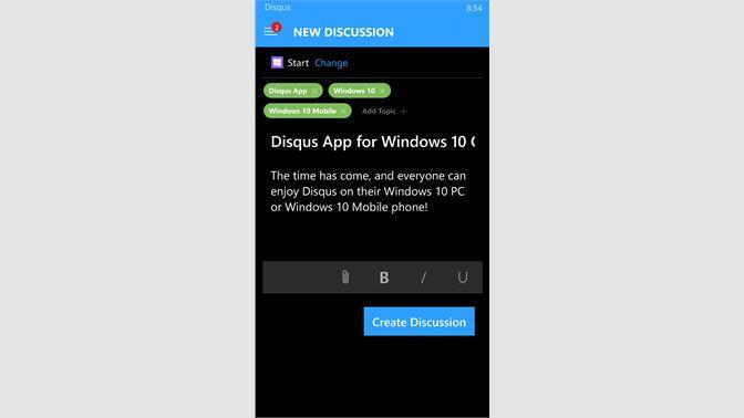 Get Disqus - Microsoft Store