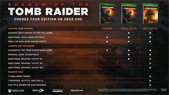Buy Shadow of the Tomb Raider - Digital Deluxe Edition