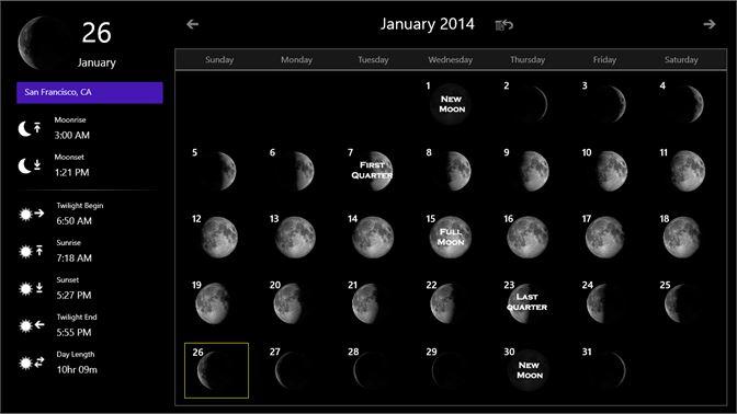 شراء Moon Calendar Microsoft Store Ar Sa