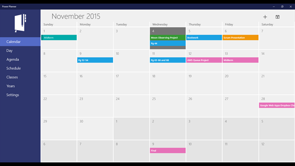 Calendar Planner Application : Power planner windows apps on microsoft store