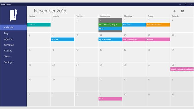 Calendario Windows 10 Su Desktop.Get Power Planner Microsoft Store