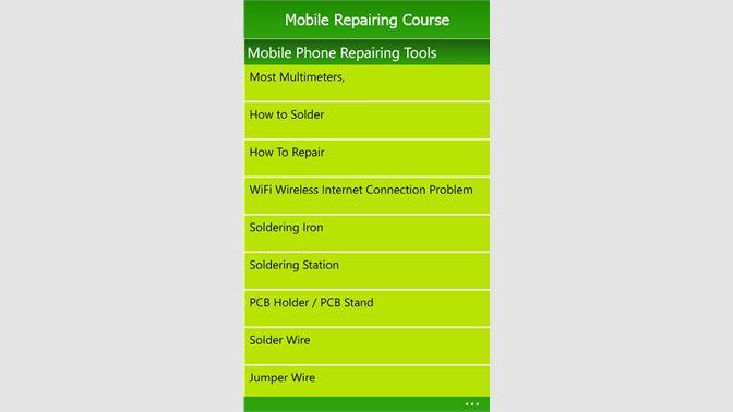 Get Mobile Repairing Course - Microsoft Store