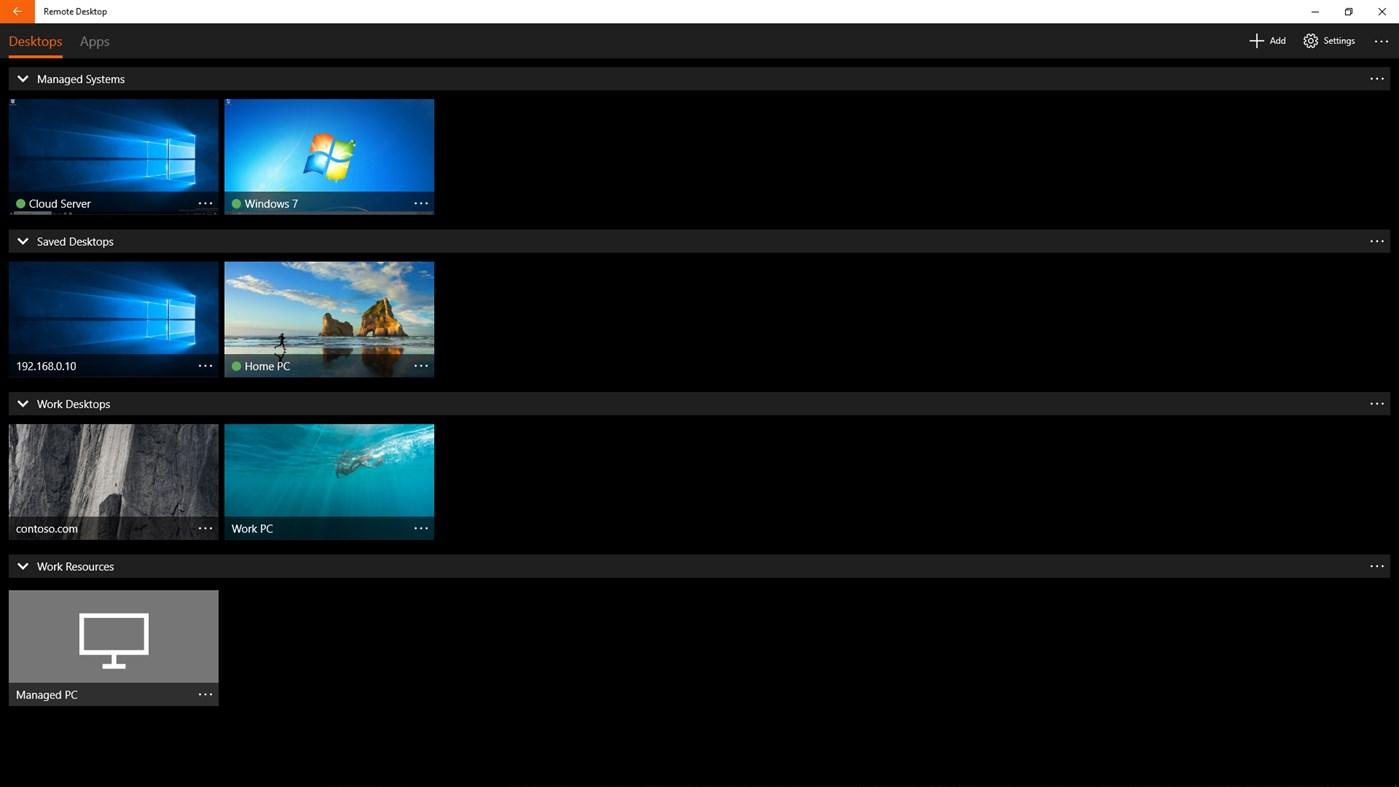 Application Microsoft Remote Desktop