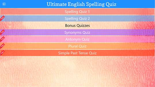 Ultimate English Spelling Quiz screenshot 3
