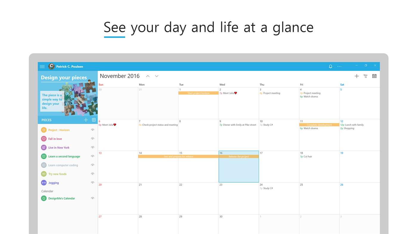 Developer Submission:DesignMe, the beautiful calendar app, is coming to the Windows 10 store 2