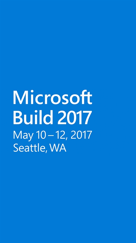Microsoft Build Screenshot
