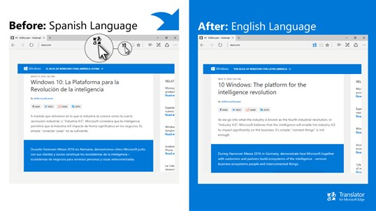 Translator for Microsoft Edge screenshot