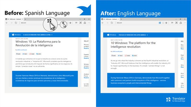 Translator For Microsoft Edge Beziehen Microsoft Store De De