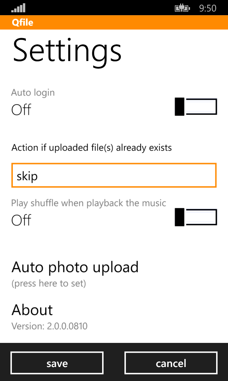 Qfile for Windows 10 Mobile