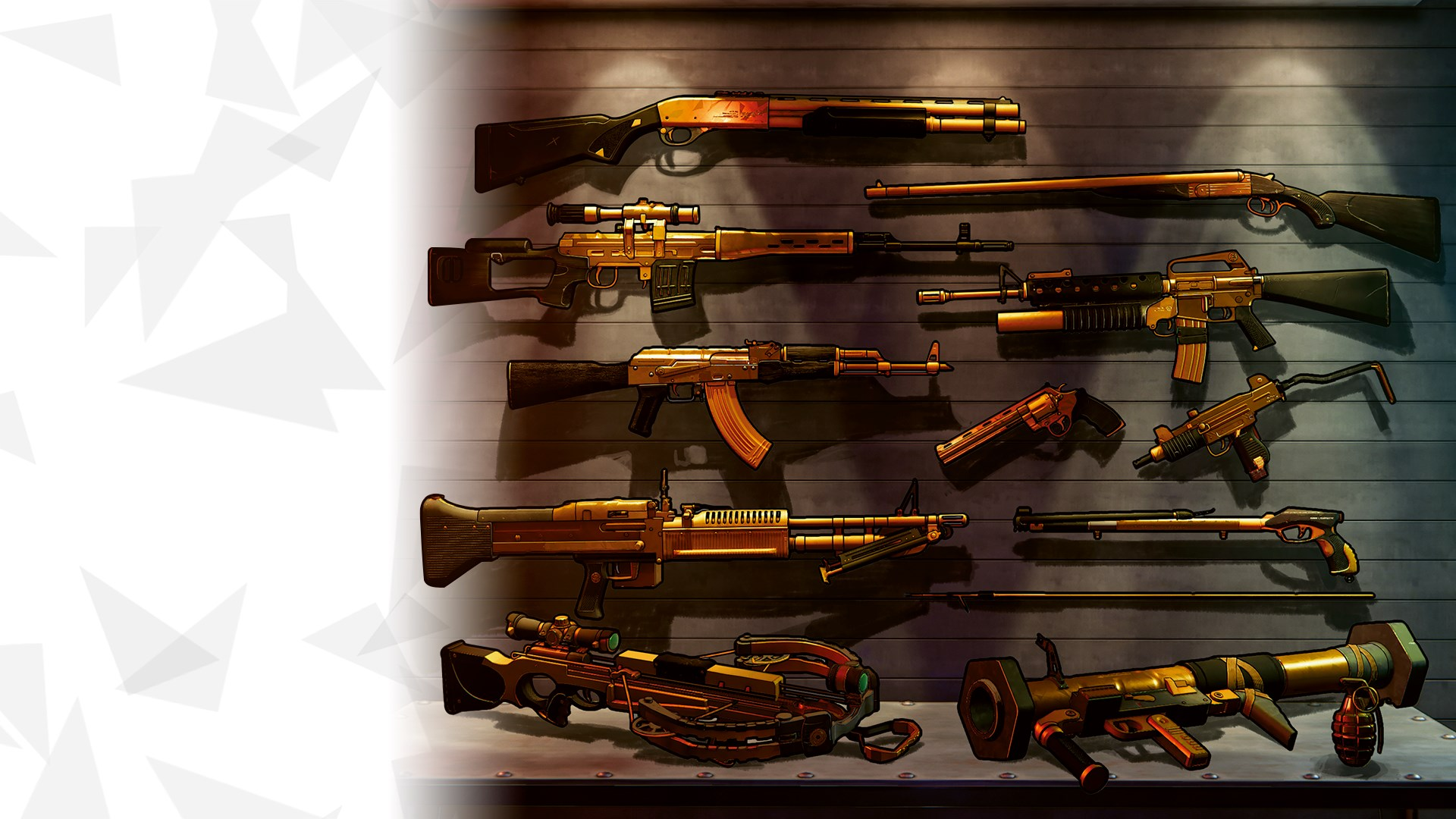XIII Golden Weapons Skins Pack
