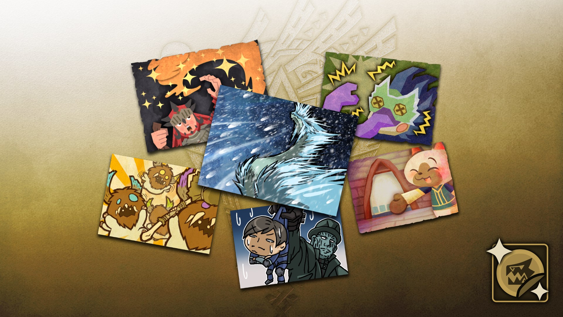 "Monster Hunter World: Iceborne - Pack complet ""Stickers"""