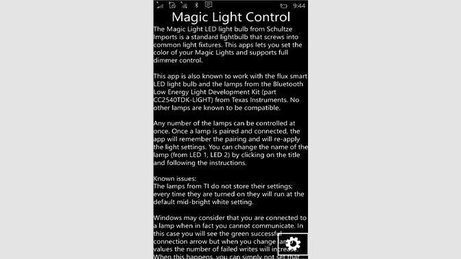Get Control Program for Magic Light-BLE - Microsoft Store