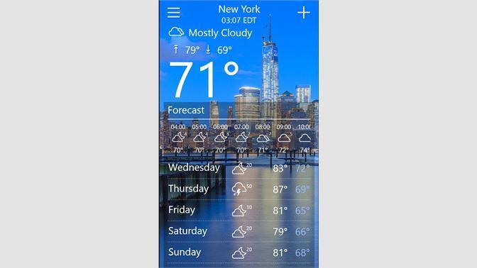 Get Weather Hd Microsoft Store