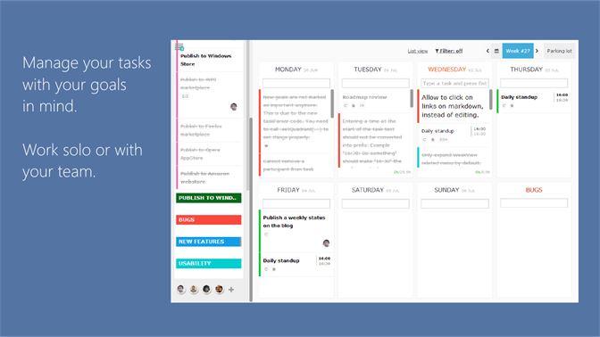 Get WeekPlan (weekly planner, todo, diary) - Microsoft Store