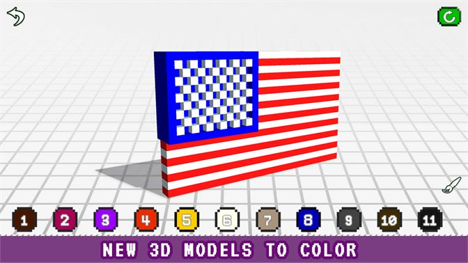 Flags 3D Color by Number - Voxel Coloring Book beziehen ...