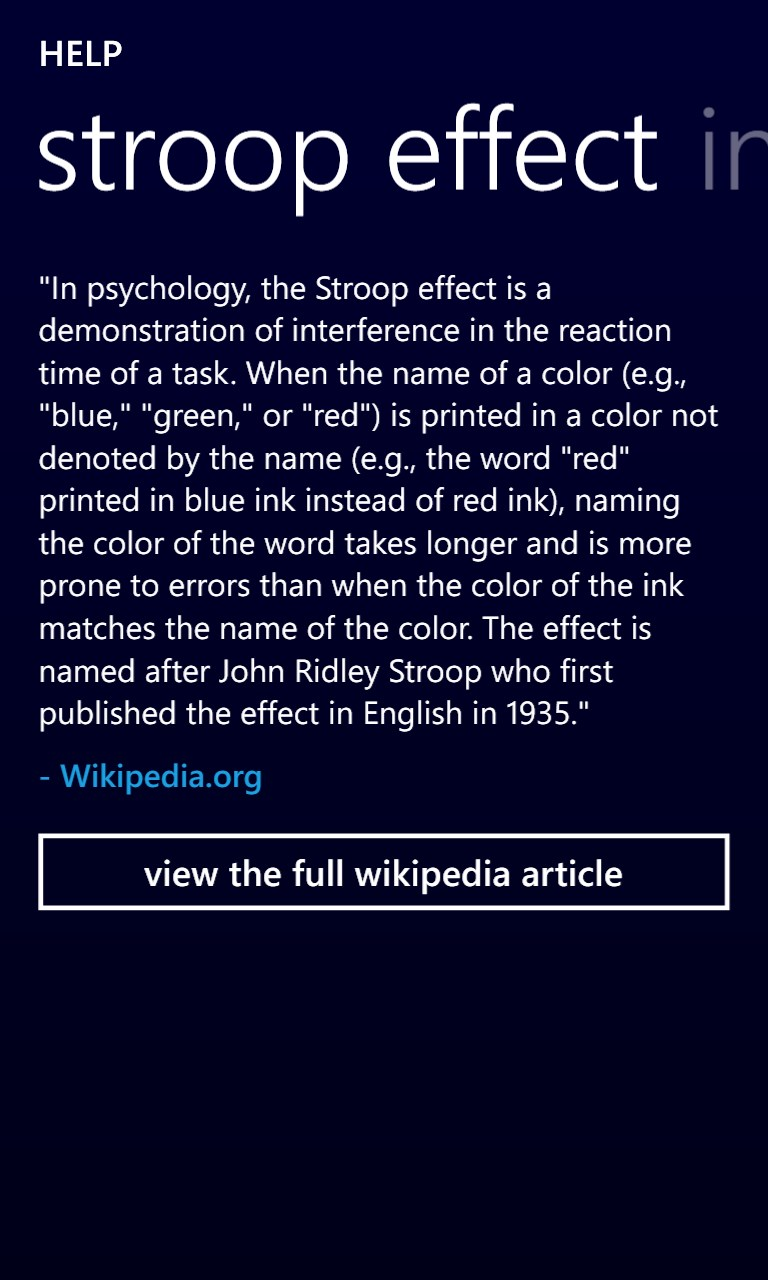 the counting stroop and the interference effect Given these opposing forces, it should come as little surprise that conflict situations arise the classic illustration is the stroop effect 5, named after the psychologist who created the task, john ridley stroop 6.