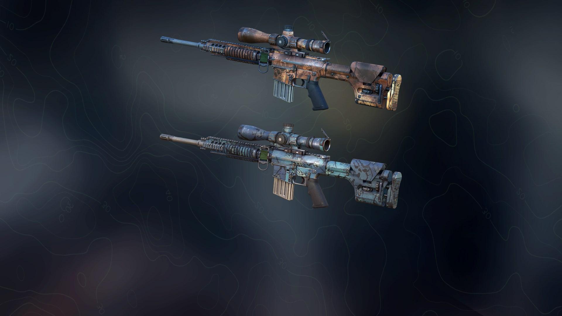 Weapon skins - Africa Tech & Hexagon Ice