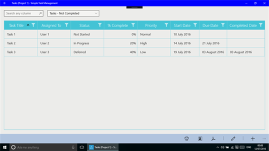Simple Task Management screenshot 2