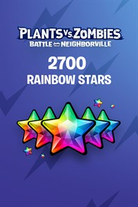 Plants vs. Zombies: Battle for Neighborville™ – 2500 (+200 Bonus) Rainbow Stars